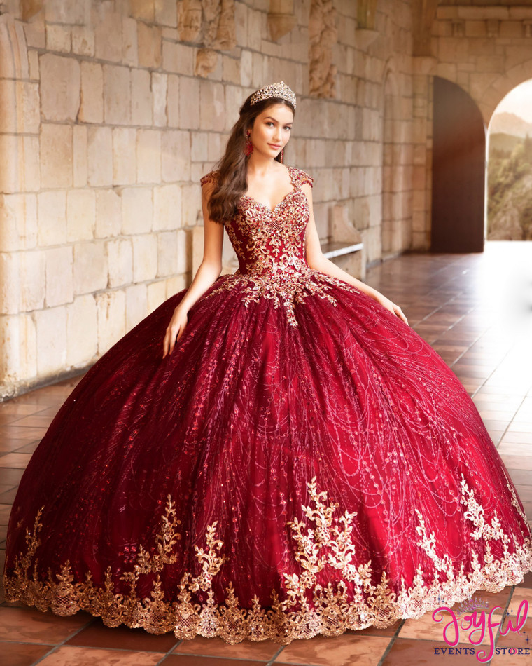 Wine/Gold Quinceanera Dress #PR21964WGD