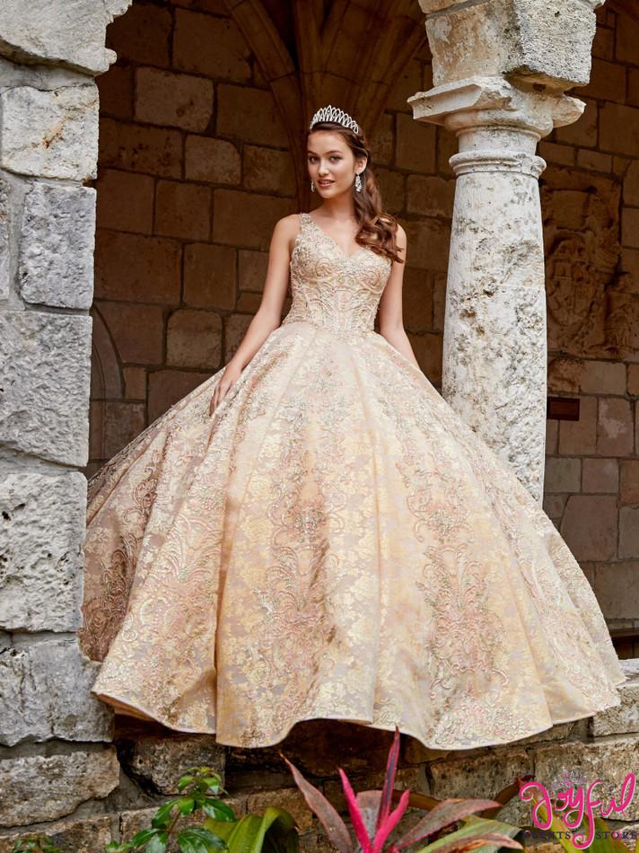 Champagne/Gold Quinceanera Dress #PR21955CHG