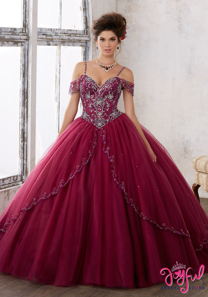 Mori Lee Vizcaya Black Cherry Quinceanera Dress Style 89135BC