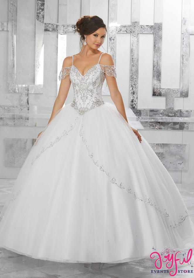 Mori Lee Vizcaya White Quinceanera Dress Style 89135WH