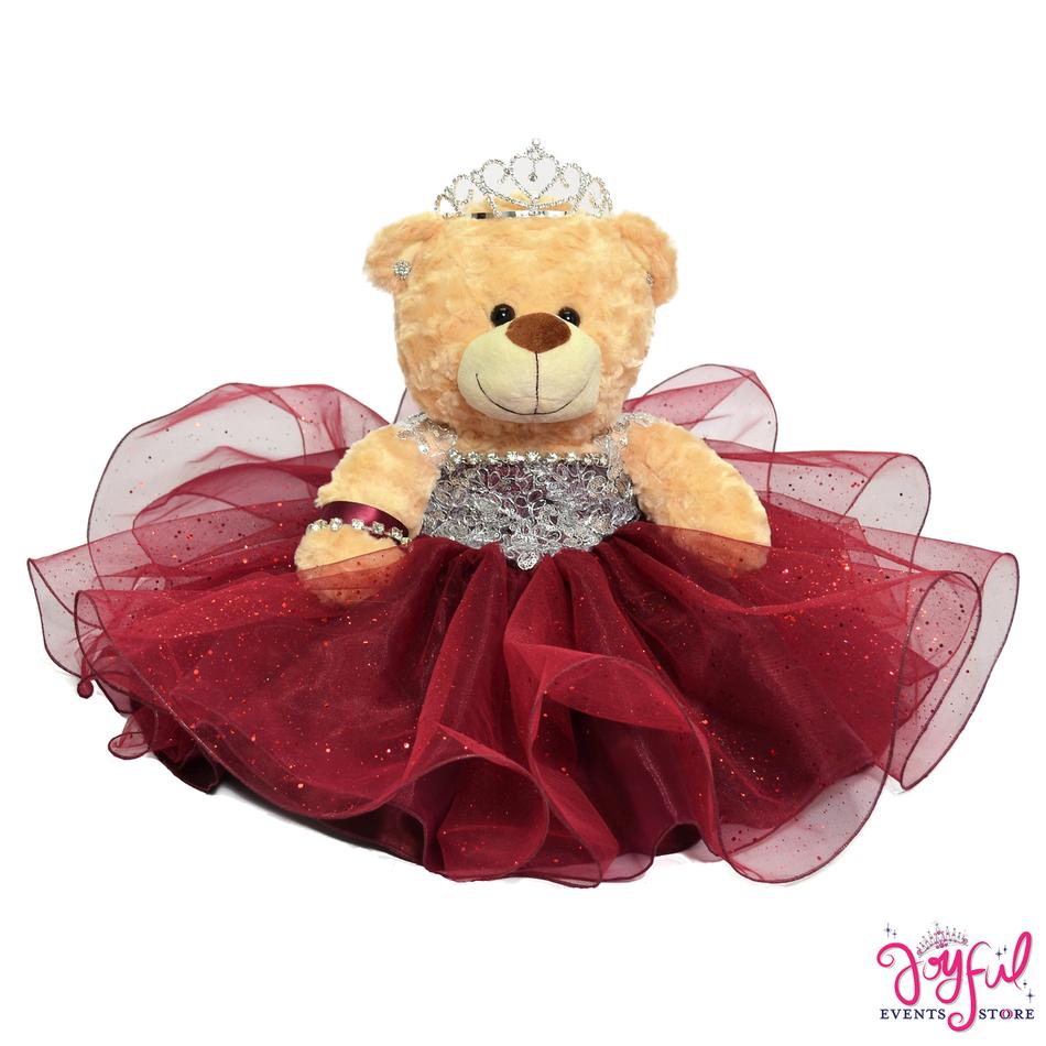 "17"" Wine Quinceanera Teddy Bear #QBR15"