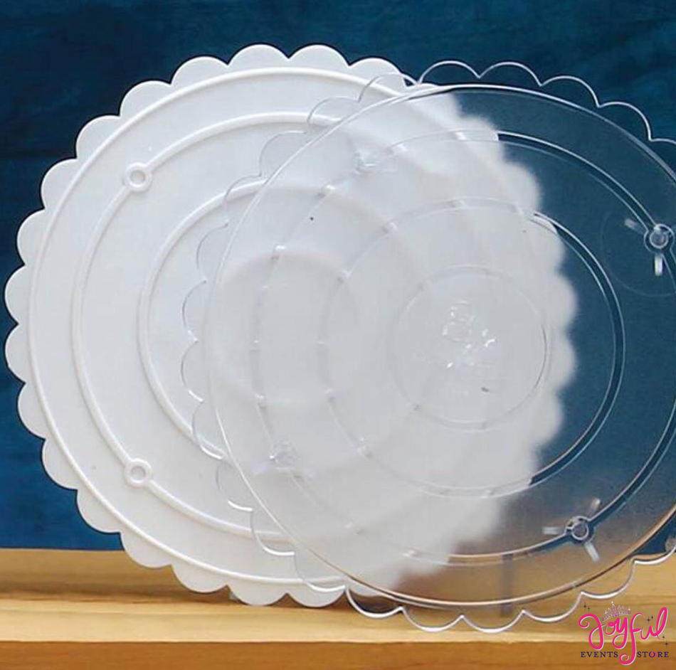"""8"""" Round Plastic Cake Plate Base #CP0"""