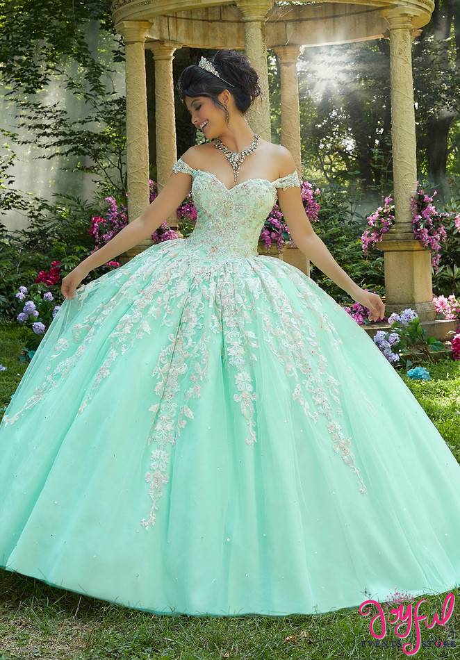 Jewel Beaded Embroidered Quinceañera Ballgown #89264