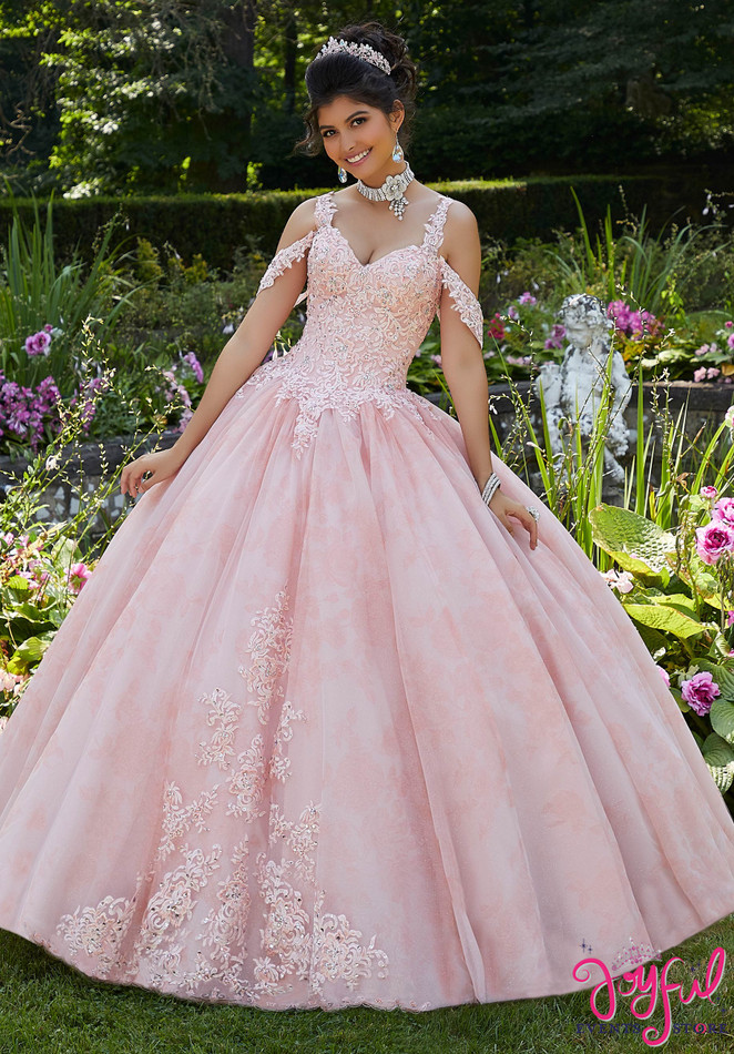 Floral Printed Tulle Quinceañera Ballgown #89265