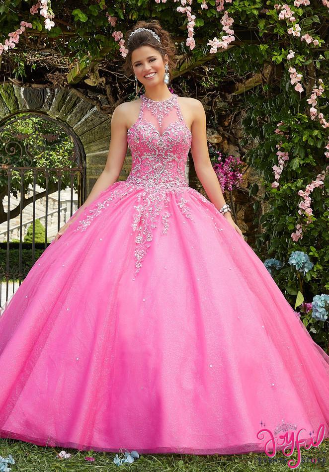 Rhinestone and Crystal Beaded Quinceañera Dress #89266