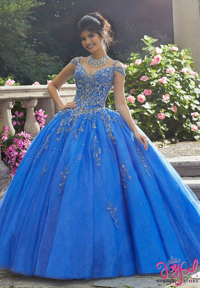 Sparkling Crystal Beaded Tulle Quinceañera Gown #89267
