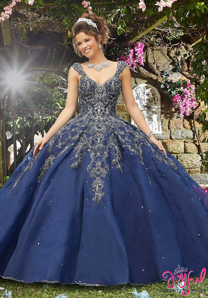 Crystal Beaded Net Quinceañera Dress #89277