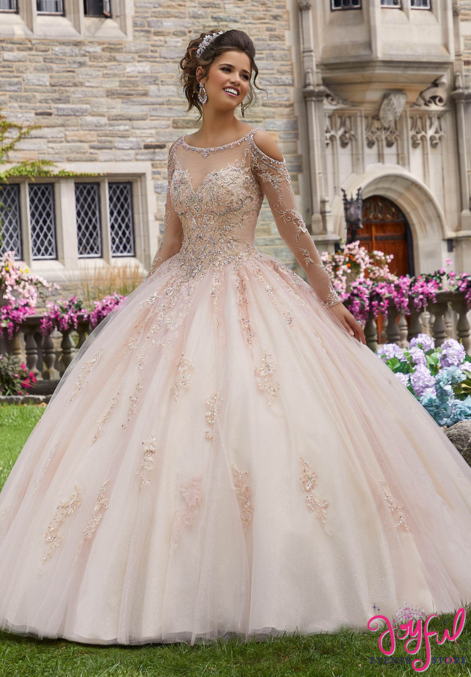 Crystal Bead Embroidered Quinceañera Ballgown #60102