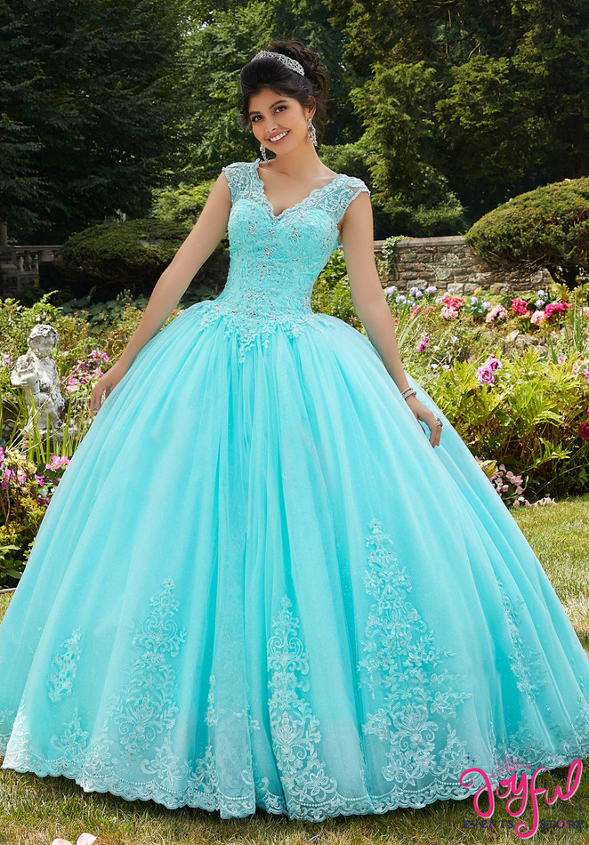 Embroidered Lace Quinceañera Dress #60104