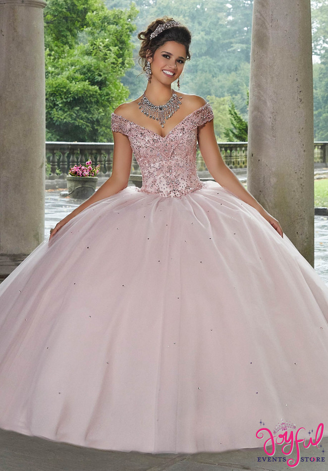 Crystal Beaded Embroidery Tulle Quinceañera Dress #60105