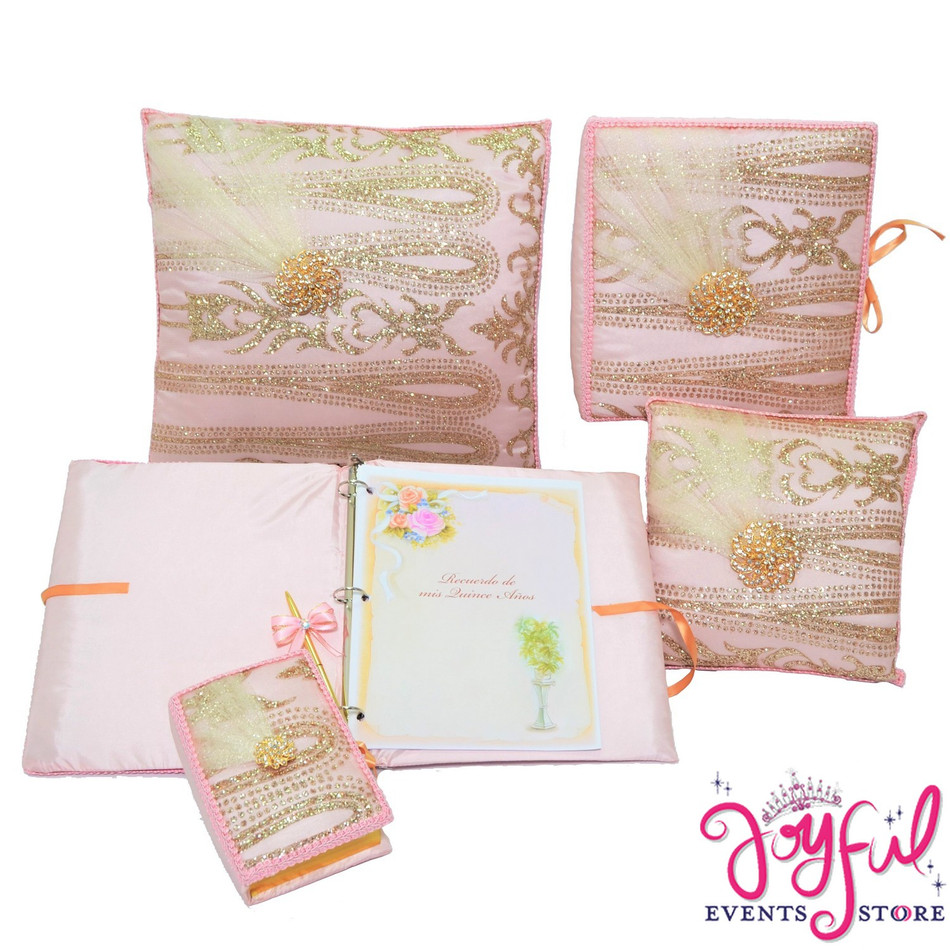 Quinceanera Accessories Pillows, Photo Album, Guest Book and Bible #QSET11