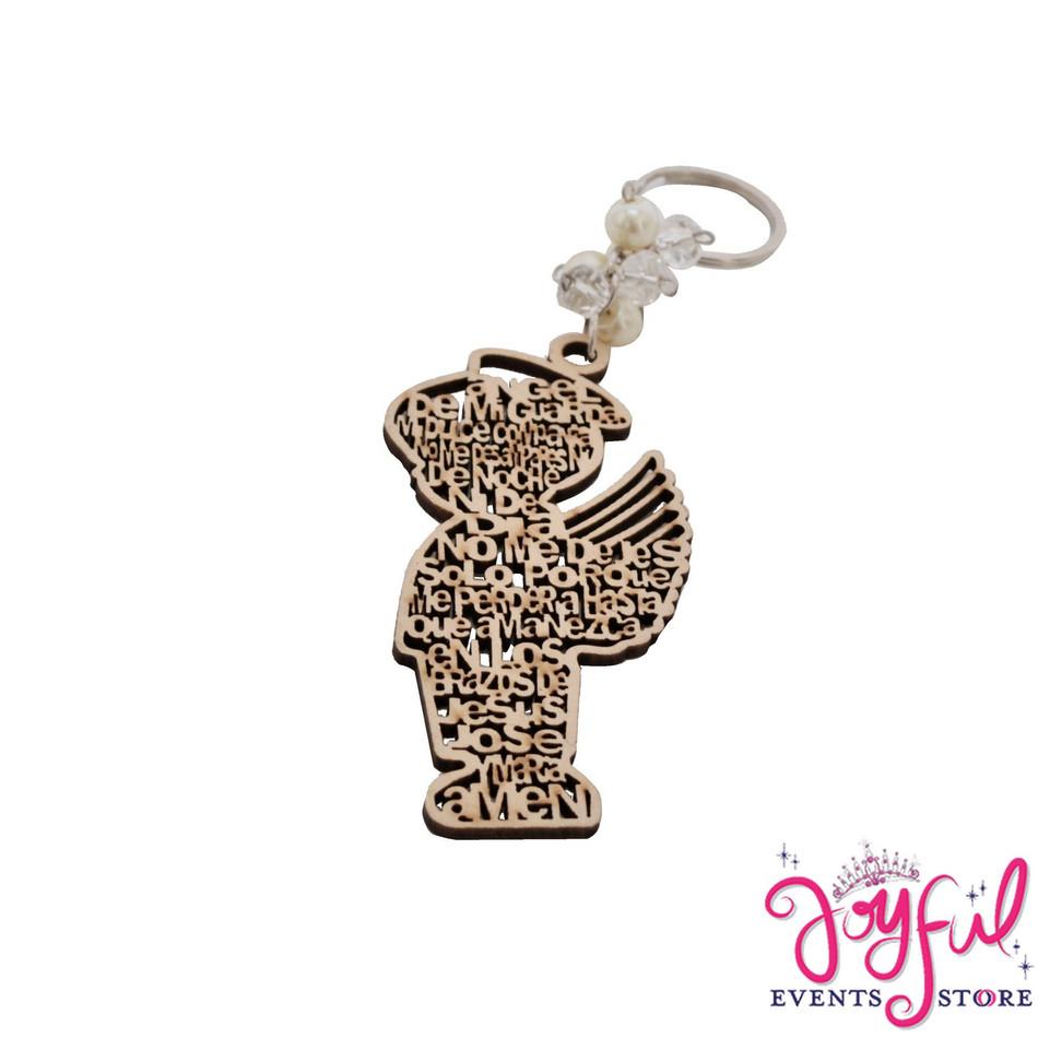 Religious Laser Angel Boy Key Keychain - 12 Pieces #PF94