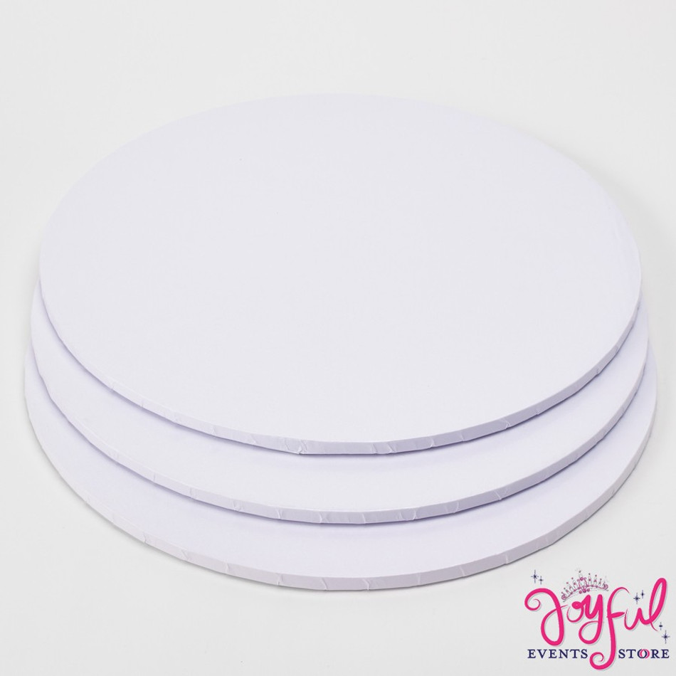 "14"" White Foil Covered Cake Board  - 1 Piece #CP114"