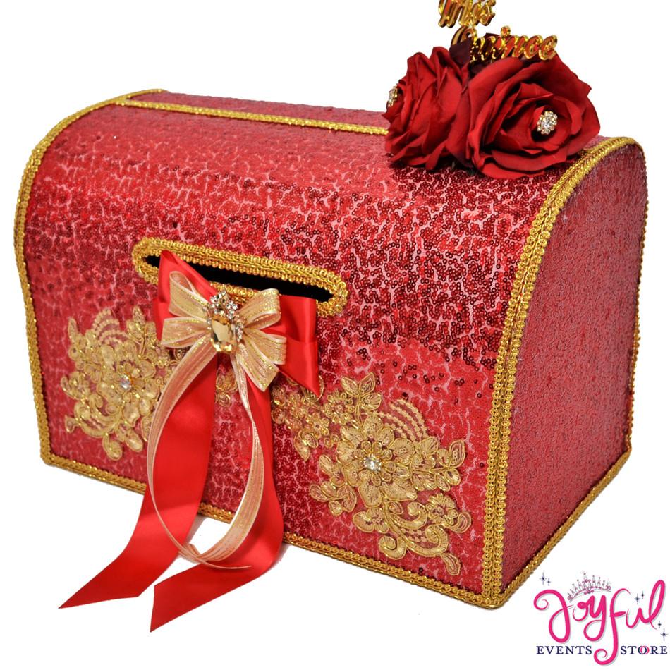 "15"" Red Charra Money Gift Box #MNYBX41"