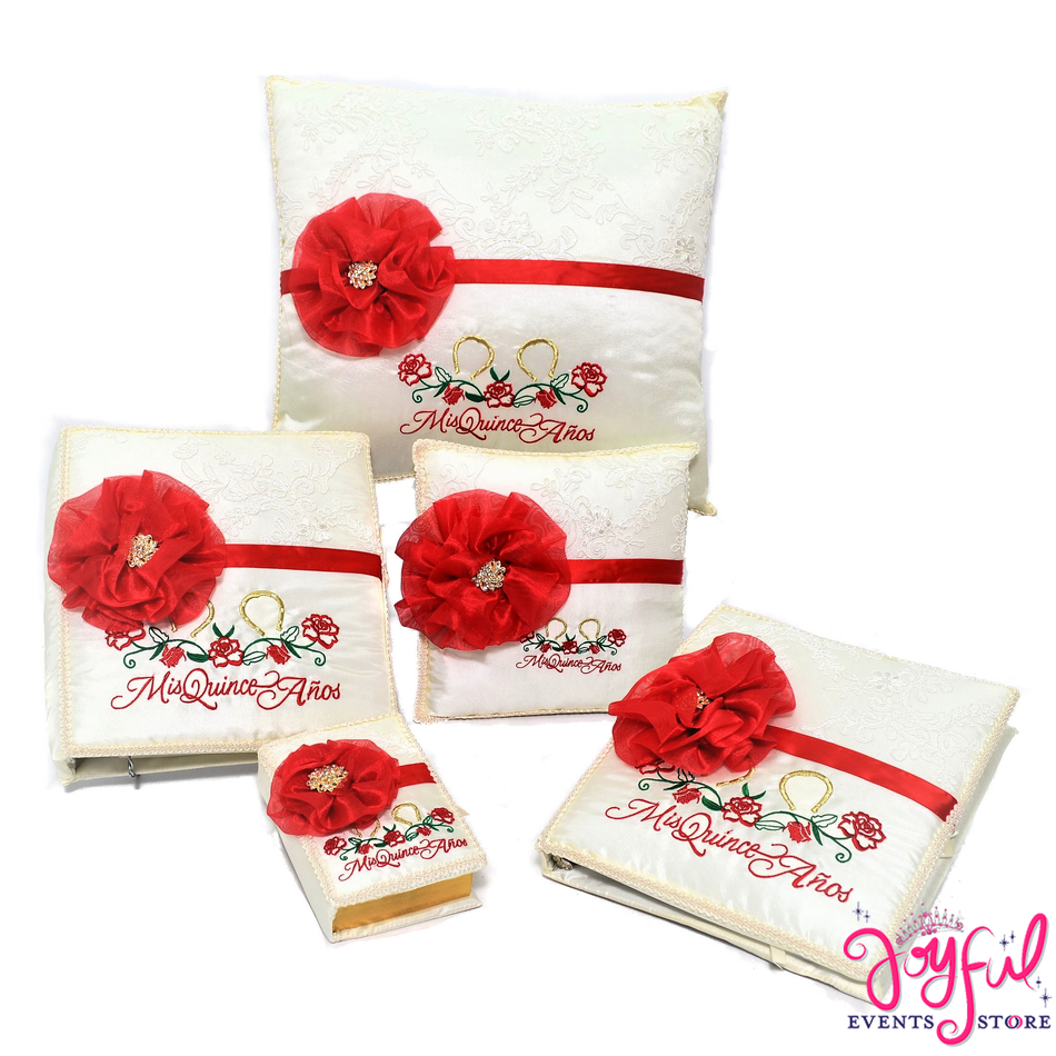 Quinceanera Charra Accessories Pillows, Photo Album, Guest Book and Bible #QSET109