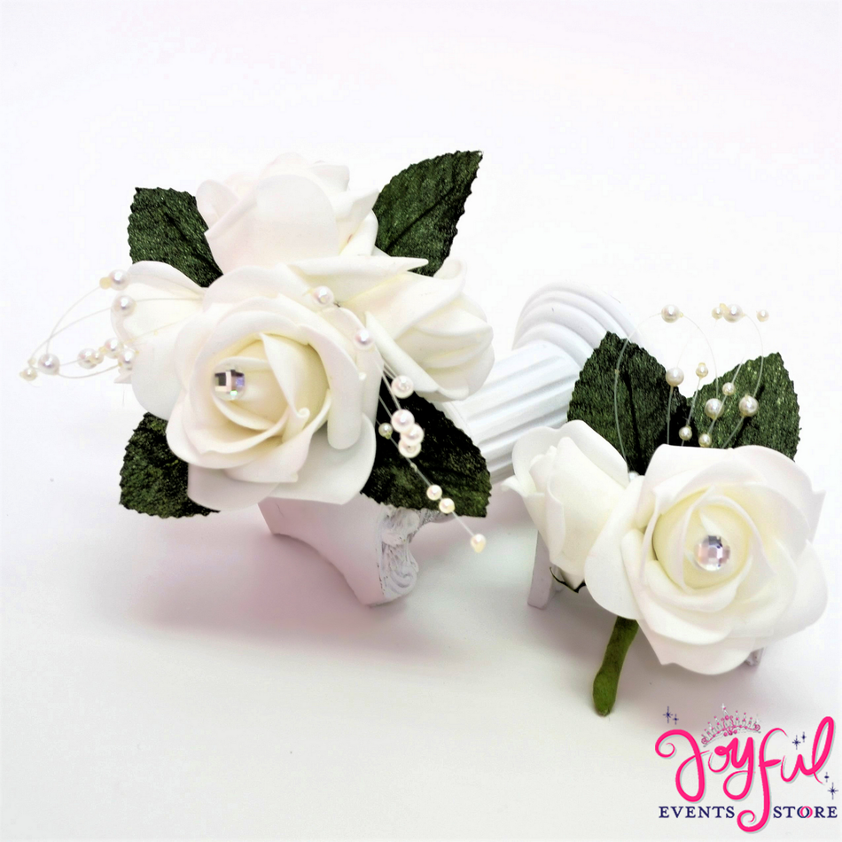 Paste Flower Hand Corsage and Boutonniere (6 min) #CRSG4SET