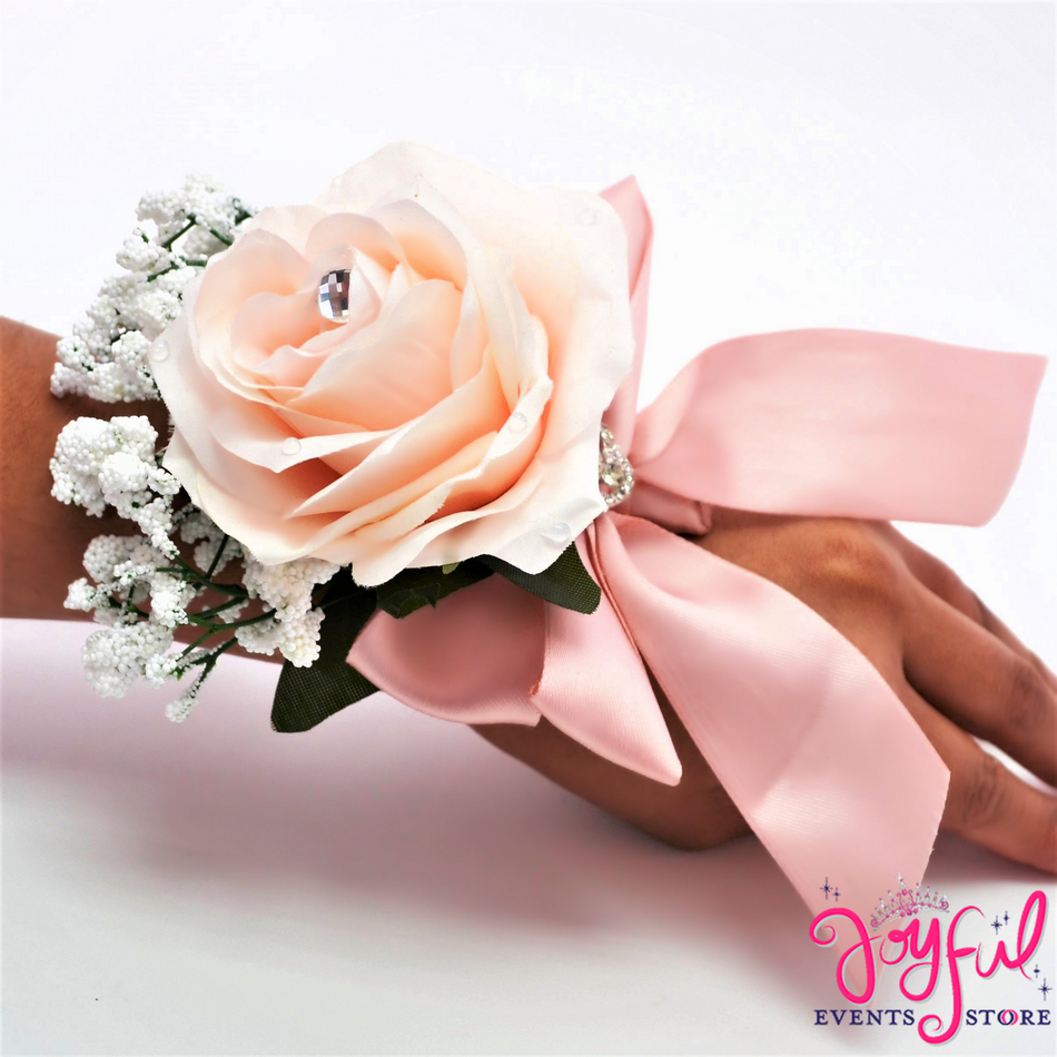 Silk Flower Hand Corsage (6 min) #CRSG5HD