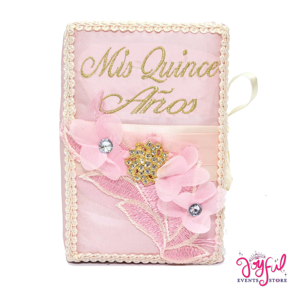 Pink Bible With Roses Decoration #BB105