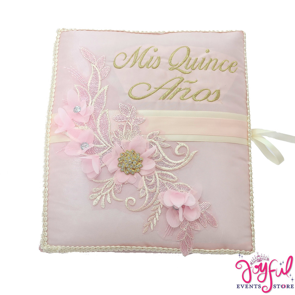"""12"""" Pink  Guest Book - #GB112"""
