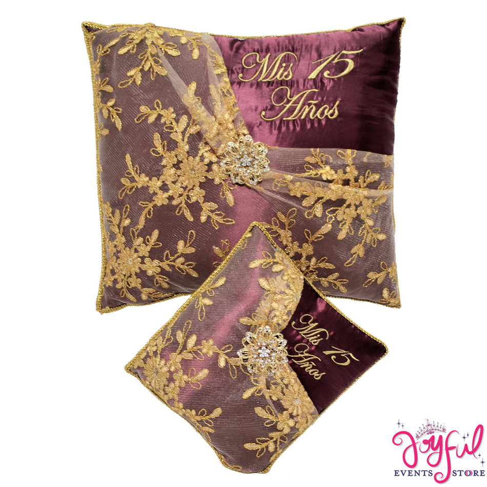 Wine Quinceanera Pillows  - Two Pillows #PLW179