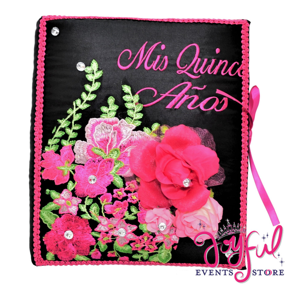 Floral Quinceanera Guest Book - #GB123