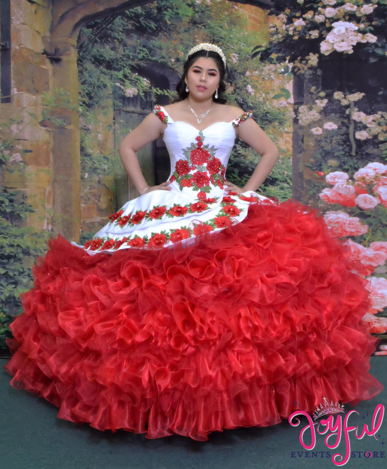 Charra Dress with Red Roses #2024