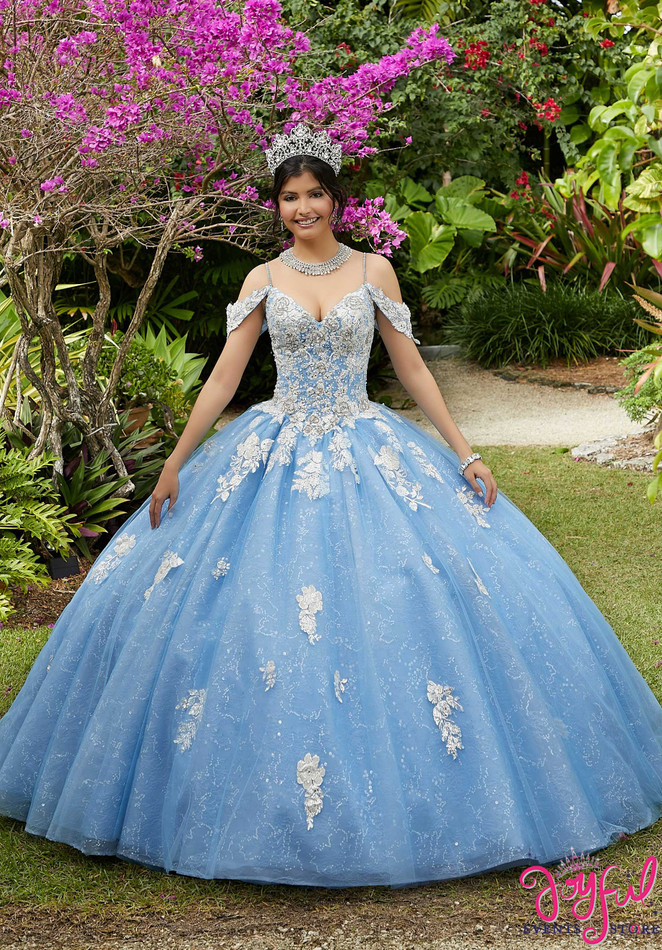 Crystal Beaded Tulle Quinceañera Dress #89281