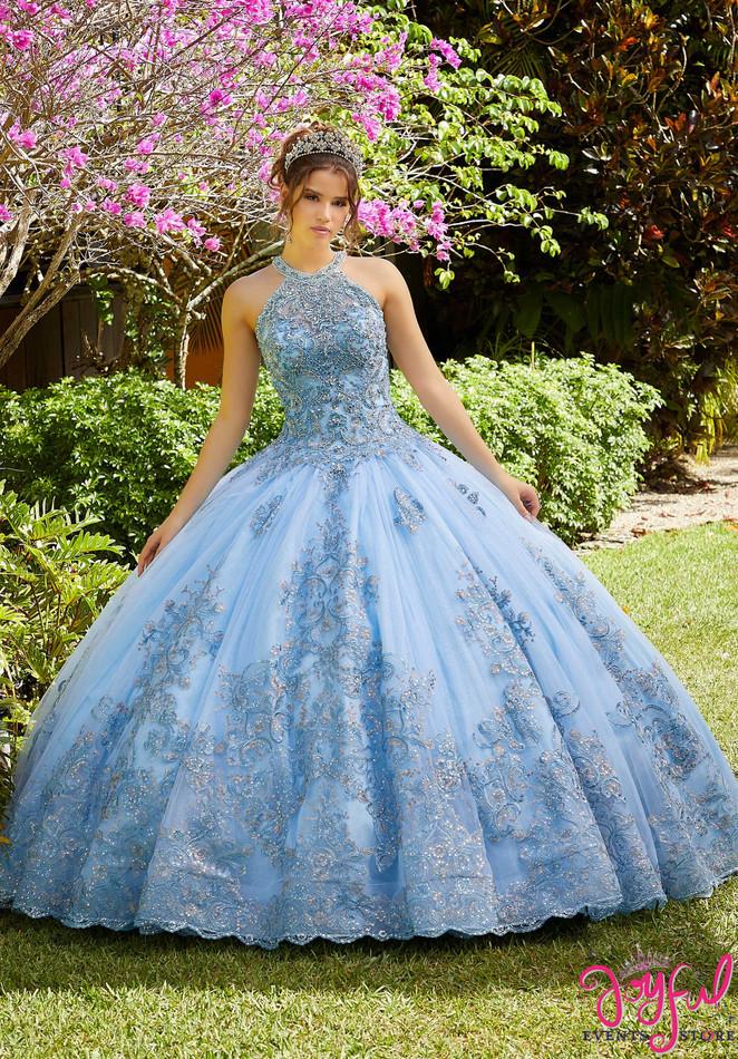 Metallic Crystal Beaded Quinceañera Dress #89284