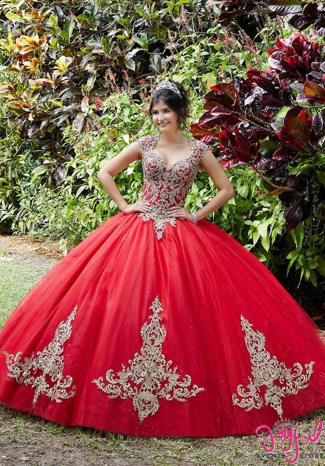 Embroidered and Crystal Beaded Quinceañera Dress #89288