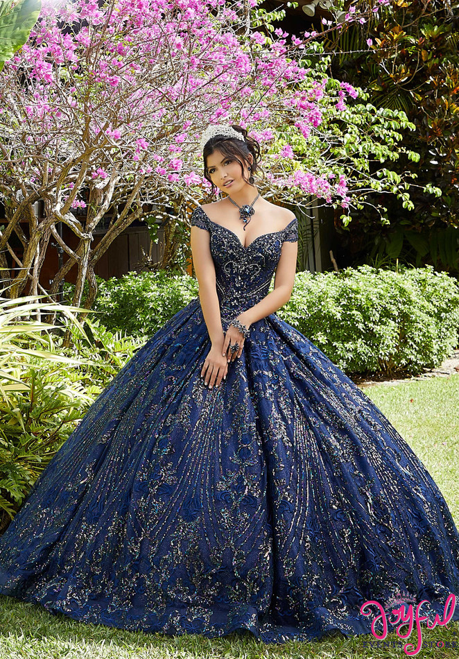 Sequin Patterned Sparkle Tulle Quinceañera Dress #89291