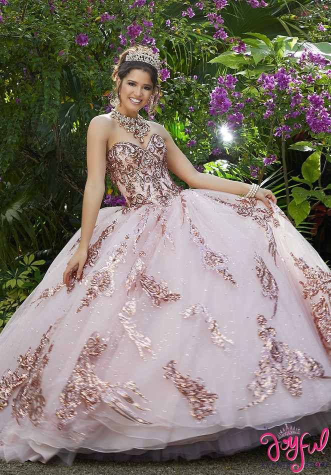Sparkle Tulle and Patterned Sequin Quinceanera Dress #89292