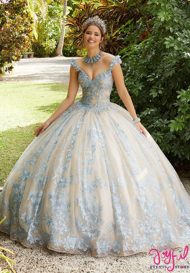Embroidered Sparkling Quinceañera Dress #89295