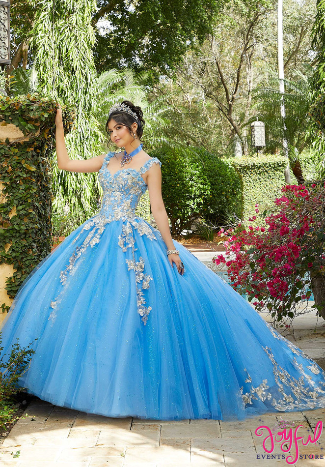 Floral Embroidered Quinceañera Dress #60123
