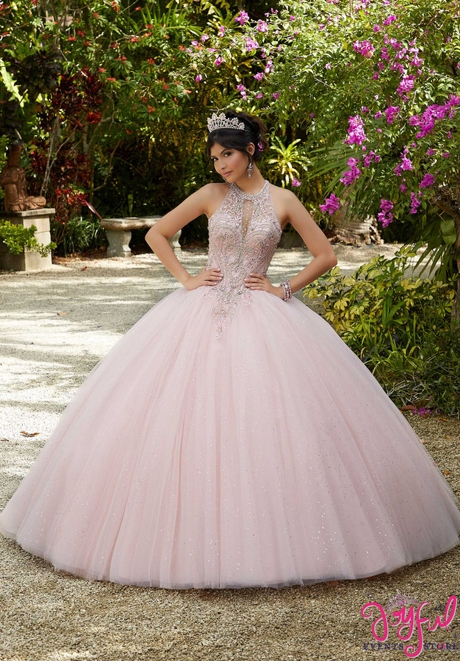 Crystal Beaded and Embroidered Tulle Quinceañera Dress #60125