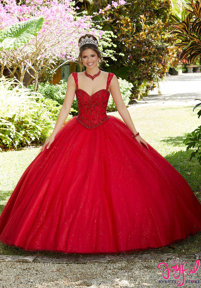 Glitter Tulle and Beaded Quinceañera Dress #60126