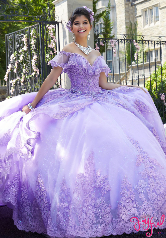 Princess Tulle and Glitter Tulle Quinceañera Dress #34025