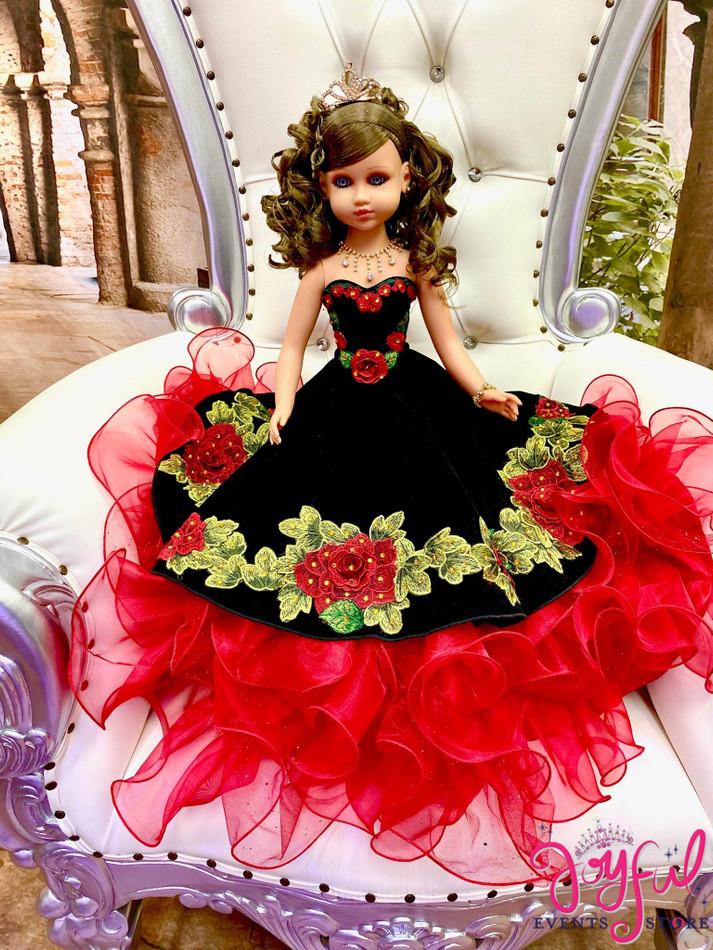 "20"" Quinceanera Doll with Charra Dress - #QD132"