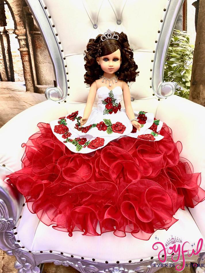 "20"" Quinceanera Doll with Charra Dress - #QD133"