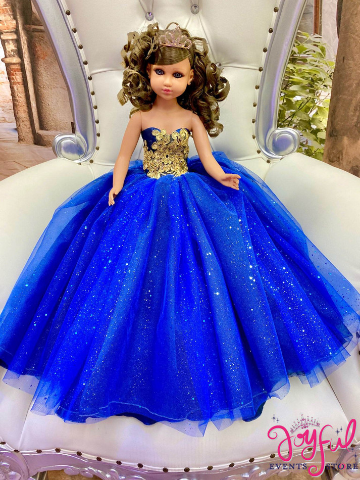 """20"""" Quinceanera Doll with Blue Dress - #QD134"""