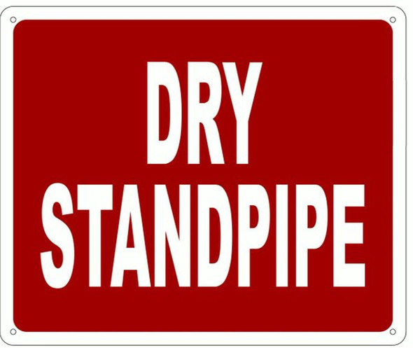SIGNS DRY STANDPIPE SIGN- REFLECTIVE !!! RED