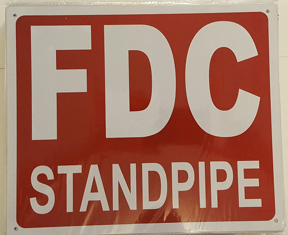 FDC STANDPIPE SIGN- REFLECTIVE !!! (ALUMINUM