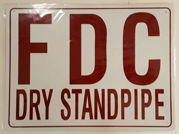 FDC DRY STANDPIPE SIGN (ALUMINUM SIGNS