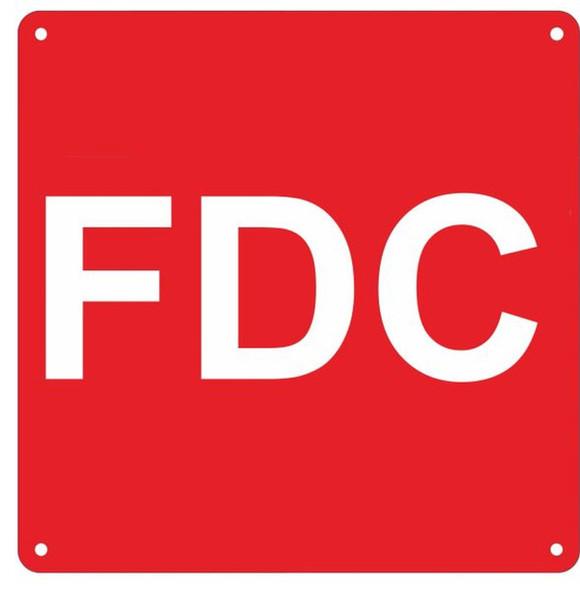 FDC SIGN- RED ALUMINUM (ALUMINUM SIGNS