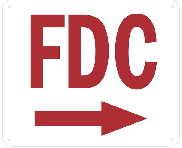 FDC RIGHT SIGN (ALUMINUM SIGNS 10X12)