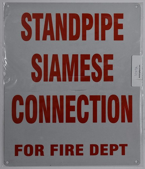 SIGNS FIRE DEPARTMENT CONNECTION STANDPIPE SIAMESE SIGN