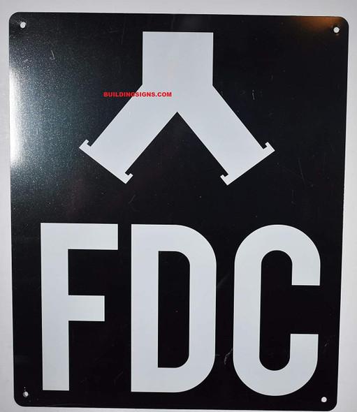 FDC SIGN (ALUMINUM SIGNS 12X10) BLACK