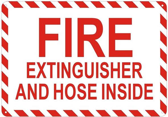 FIRE EXTINGUISHER AND HOSE INSIDE SIGN-