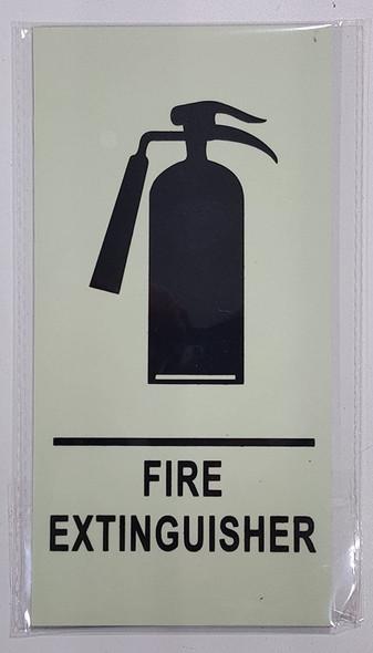 FIRE EXTINGUISHER SIGN - PHOTOLUMINESCENT GLOW
