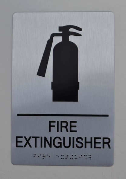 SIGNS FIRE EXTINGUISHER ADA-Sign -Tactile Signs The