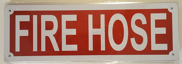 SIGNS FIRE HOSE SIGN- REFLECTIVE !!! (RED,